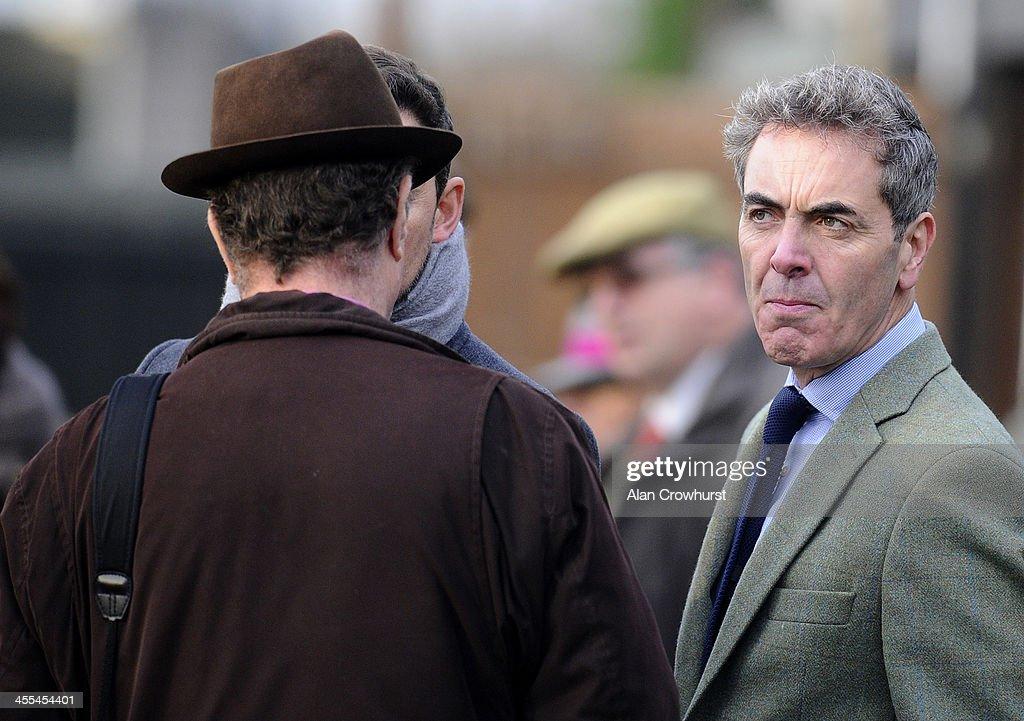 James Nesbitt owner of Riverside Theatre at Huntingdon racecourse on December 12 2013 in Huntingdon England