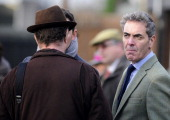 James Nesbitt owner of Riverside Theatre at Huntingdon racecourse on December 12 2013 in Huntingdon England