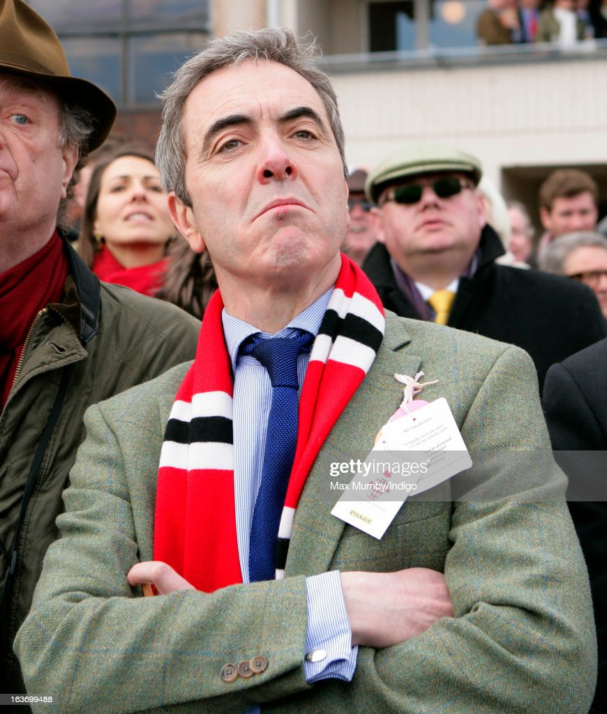 <a gi-track='captionPersonalityLinkClicked' href=/galleries/search?phrase=James+Nesbitt&family=editorial&specificpeople=211175 ng-click='$event.stopPropagation()'>James Nesbitt</a> watches his horse Riverside Theatre run in the Ryanair Steeple Chase as he attends Day 3 of The Cheltenham Festival at Cheltenham Racecourse on March 14, 2013 in London, England.