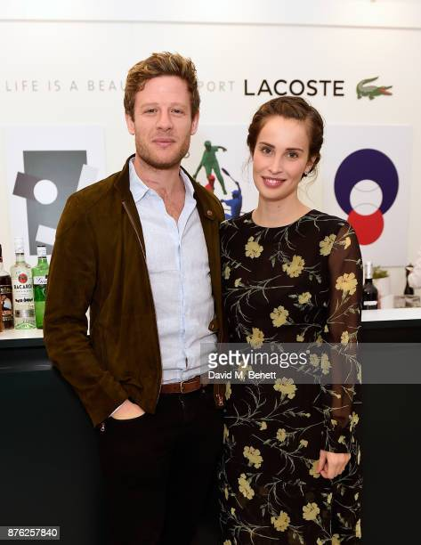 James Norton and Heida Reed attend Lacoste VIP Lounge at the 2017 ATP World Tour Tennis Finals on November 19 2017 in London United Kingdom