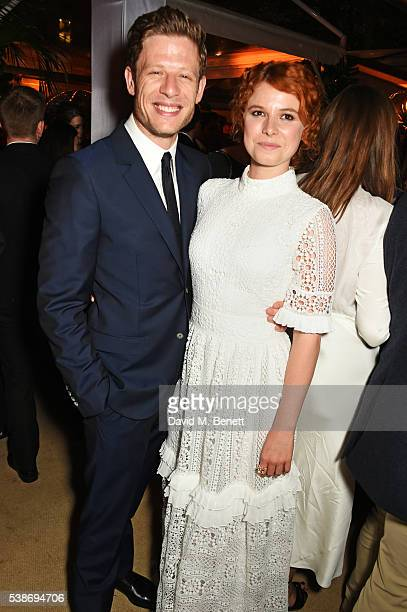 James Norton and Jessie Buckley attend the Glamour Women Of The Year Awards after party in Berkeley Square Gardens on June 7 2016 in London United...