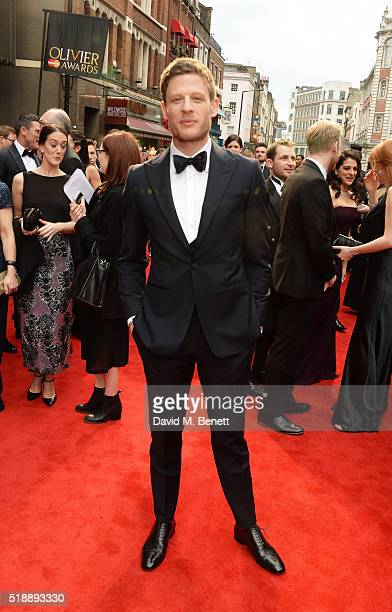 James Norton arrives at The Olivier Awards with Mastercard at The Royal Opera House on April 3 2016 in London England