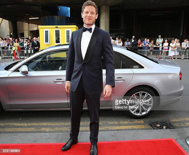 James Norton arriving in a Audi at the top of the red carpet for the BAFTA TV Awards 2016 at the Royal Festival Hall on May 8 2016 in London England