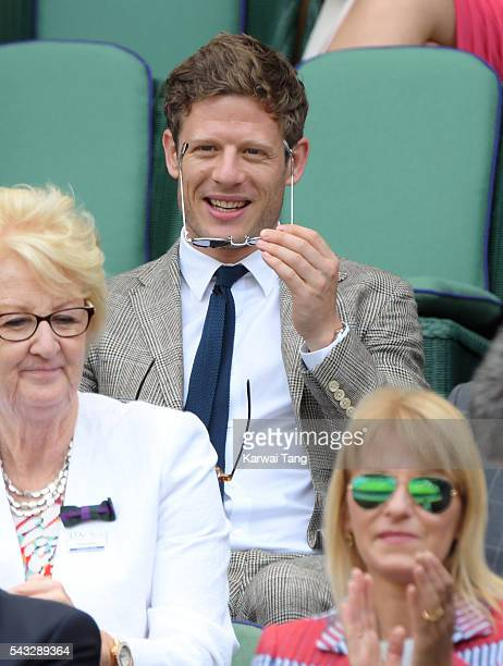 James Norton attends day one of the Wimbledon Tennis Championships at Wimbledon on June 27 2016 in London England