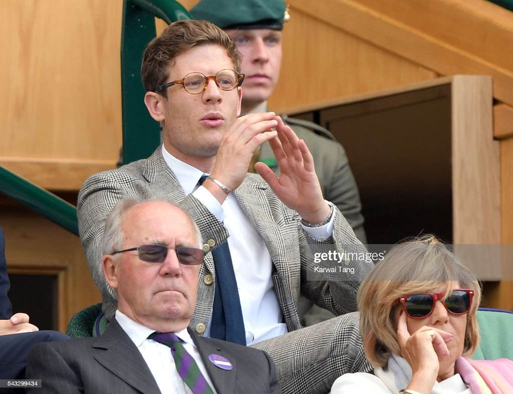 James Norton attends day one of the Wimbledon Tennis Championships at Wimbledon on June 27, 2016 in London, England.