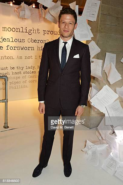 James Norton attends the Bright Young Things Gala 2016 a Young Patrons of the National Theatre event in support of emerging talent at The National...