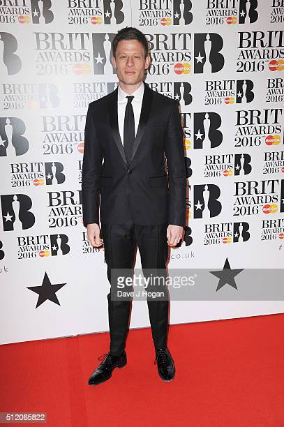 James Norton attends the BRIT Awards 2016 at The O2 Arena on February 24 2016 in London England