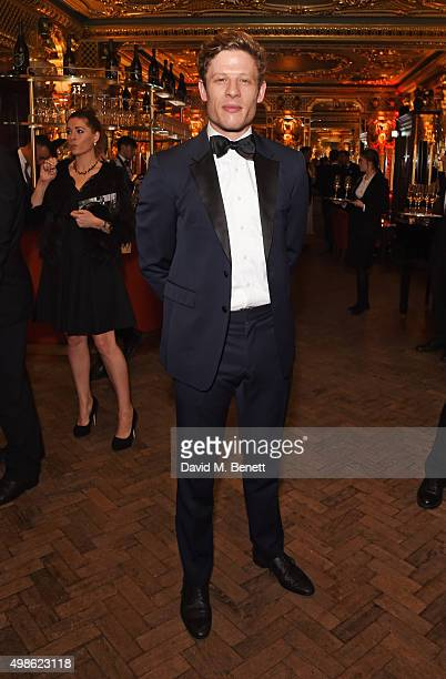 James Norton attends the Royal Marines Boxing Bout at Cafe Royal in celebration of their 150th Anniversary on November 24 2015 in London England