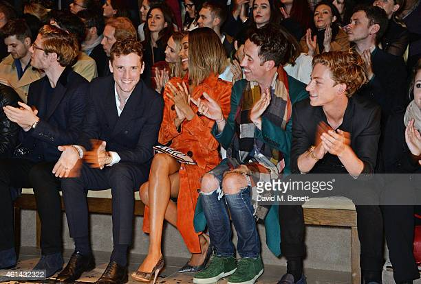 James Norton George Barnett Jourdan Dunn Nick Grimshaw and Ben Nordberg attend the front row at Burberry Prorsum AW15 London Collections Men at...