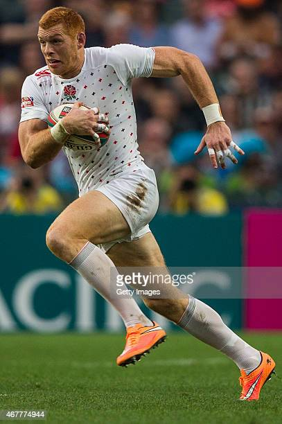 James Norton of England in action during the England v Wales match as part of the Hong Kong Sevens the sixth round of the HSBC Sevens World series at...