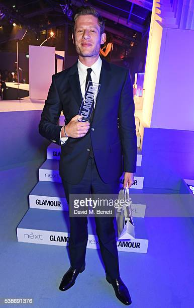 James Norton winner of the Man of the Year award attends the Glamour Women Of The Year Awards in Berkeley Square Gardens on June 7 2016 in London...