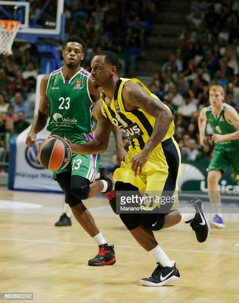 James Nunnally #21 of Fenerbahce Dogus Istanbul in action during the 2017/2018 Turkish Airlines EuroLeague Regular Season Round 1 game between...