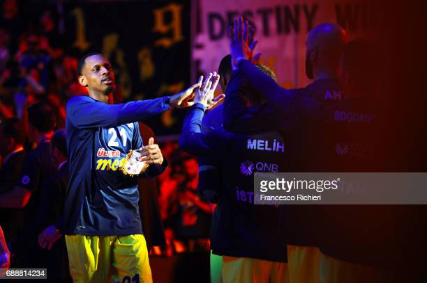 James Nunnally #21 of Fenerbahce Istanbul before the Championship Game 2017 Turkish Airlines EuroLeague Final Four between Fenerbahce Istanbul v...