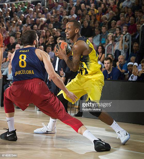 James Nunnally #21 of Fenerbahce Istanbul in action during the 2016/2017 Turkish Airlines EuroLeague Regular Season Round 2 game between FC Barcelona...