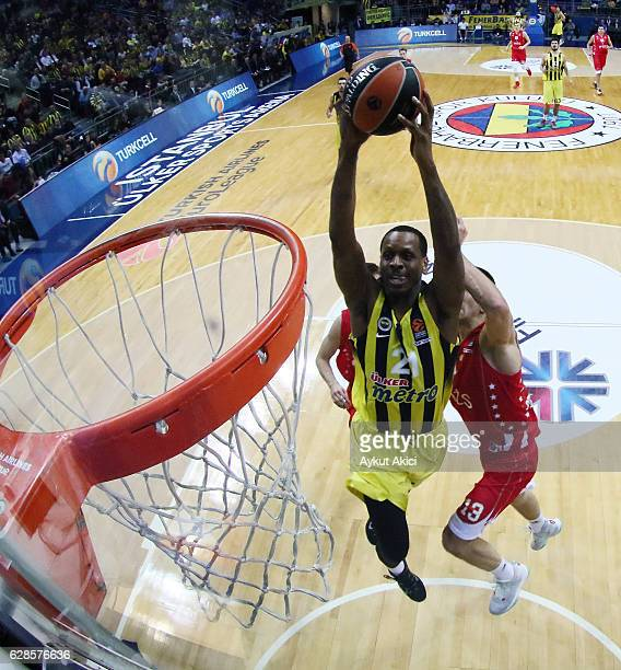 James Nunnally #21 of Fenerbahce Istanbul in action during the 2016/2017 Turkish Airlines EuroLeague Regular Season Round 11 game between Fenerbahce...