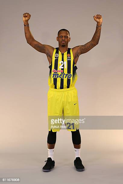 James Nunnally #21 of Fenerbahce Istanbul poses during the 2016/2017 Turkish Airlines EuroLeague Media Day at Fenerbahce Ulker Sports Arena on...