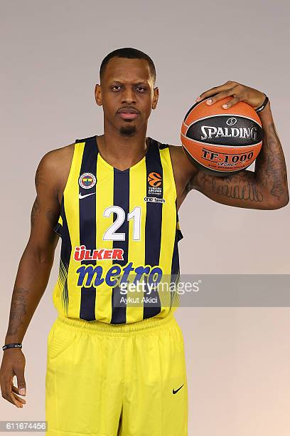 James Nunnally of Fenerbahce Istanbul poses during the 2016/2017 Turkish Airlines EuroLeague Media Day at Fenerbahce Ulker Sports Arena on September...