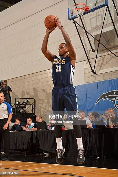 James Nunnally of the Indiana Pacers shoots the ball against the Miami Heat during the Samsung NBA Summer League 2014 on July 10 2014 at Amway Center...