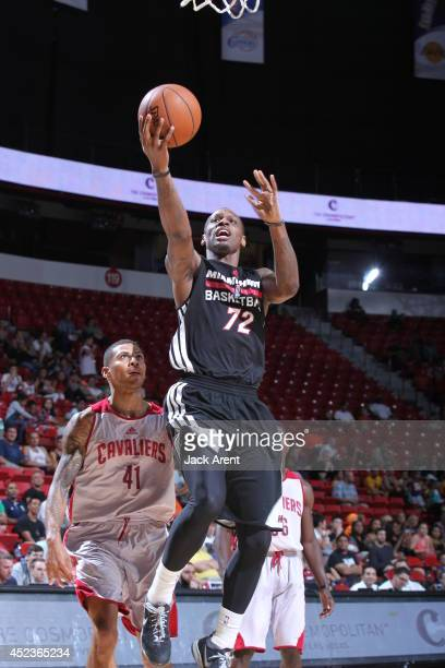 James Nunnally of the Miami Heat shoots against the Cleveland Cavaliers at the Samsung NBA Summer League 2014 on July 18 2014 at the Thomas Mack...