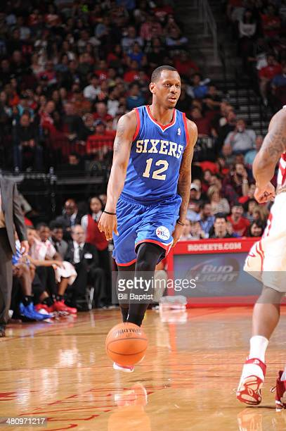 James Nunnally of the Philadelphia 76ers drives against the Houston Rockets on March 27 2014 at the Toyota Center in Houston Texas NOTE TO USER User...