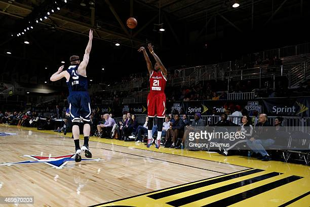 James Nunnally of the Prospects shoots during the NBA DLeague AllStar Game at Sprint Arena as part of 2014 NBA AllStar Weekend at the Ernest N Morial...