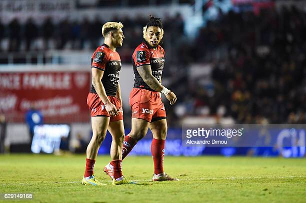 James O Connor and Ma A Nonu v during the European Champions Cup match between Toulon and Scarlets on December 11 2016 in Toulon France
