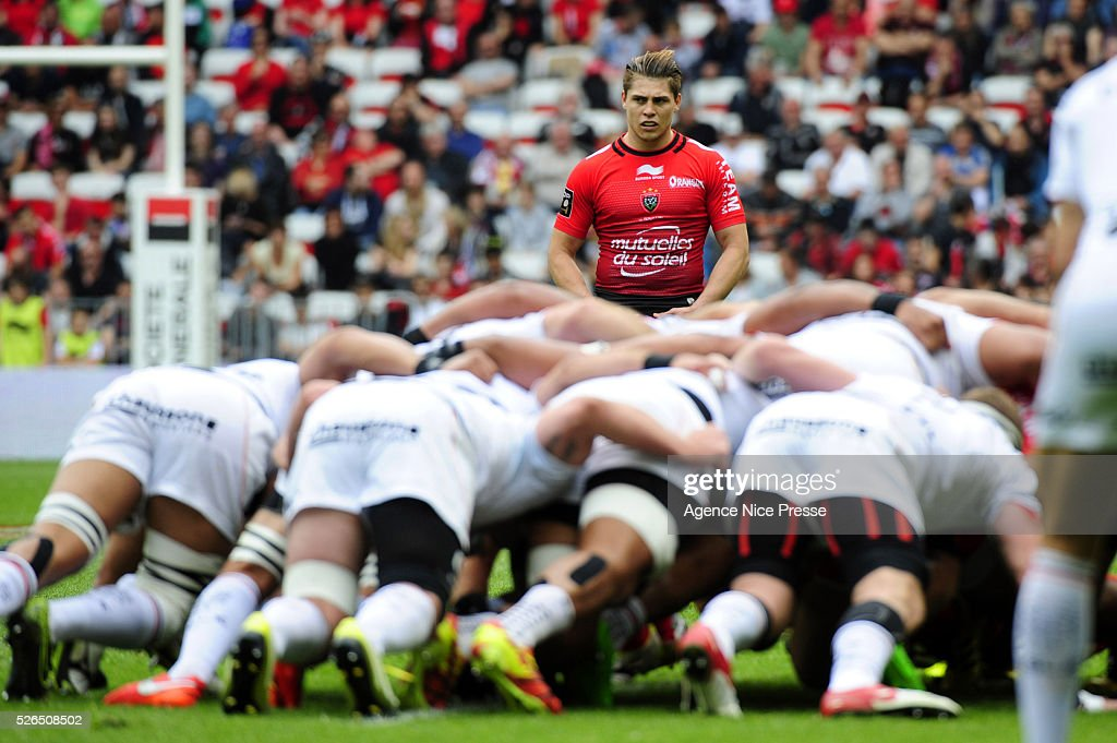 James O'CONNOR during the French Top 14 rugby union match between RC Toulon and Stade Toulousain ( Toulouse ) at Allianz Riviera on April 30, 2016 in Nice, France.