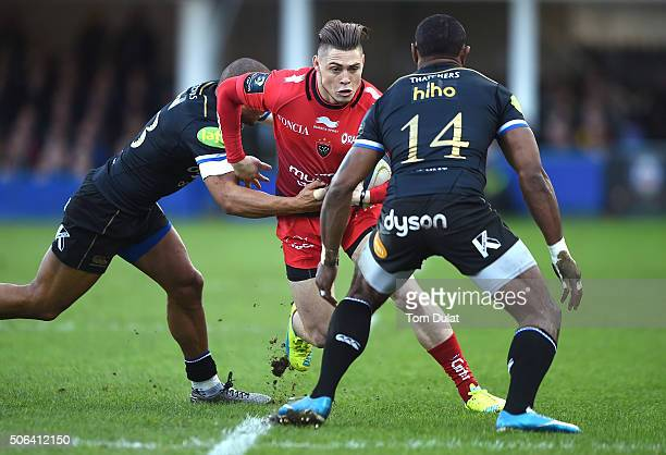 James O'Connor of RC Toulon in action during the European Rugby Champions Cup match between Bath Rugby and RC Toulon at Recreation Ground on January...