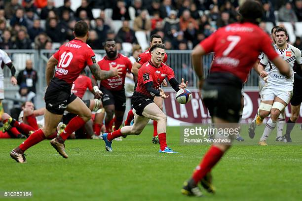 James O'Connor of RC Toulon in action during the Top 14 rugby match between Union Bordeaux Begles and RC Toulon at Stade Matmut Atlantique on...
