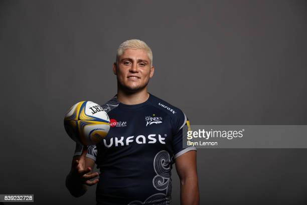 James O'Connor of Sale Sharks poses during a photocall on August 23 2017 in Sale England