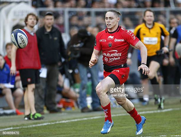 James O'Connor of Toulon in action during the European Champions Cup match between Racing Club de Toulon and Bath Rugby at Stade Mayol on January 10...