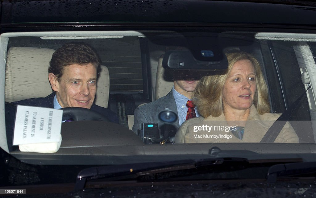 James Ogilvy and Julia Ogilvy attend a Christmas lunch for members of the Royal Family hosted by Queen Elizabeth II at Buckingham Palace on December 19, 2012 in London, England.