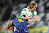 James Oliver of Manawatu on the charge during the round six ITM Cup match between Otago and Manawatu at Forsyth Barr Stadium on September 20 2013 in...