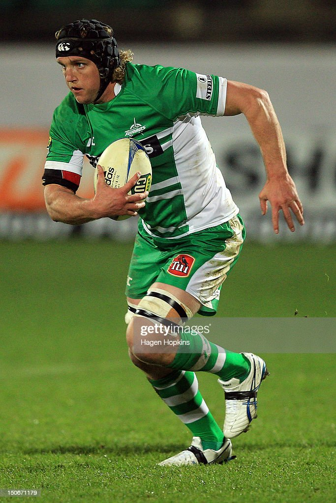 James Oliver of Manawatu runs the ball during the round one ITM Cup match between Manawatu and Wellington at FMG Stadium on August 24, 2012 in Palmerston North, New Zealand.