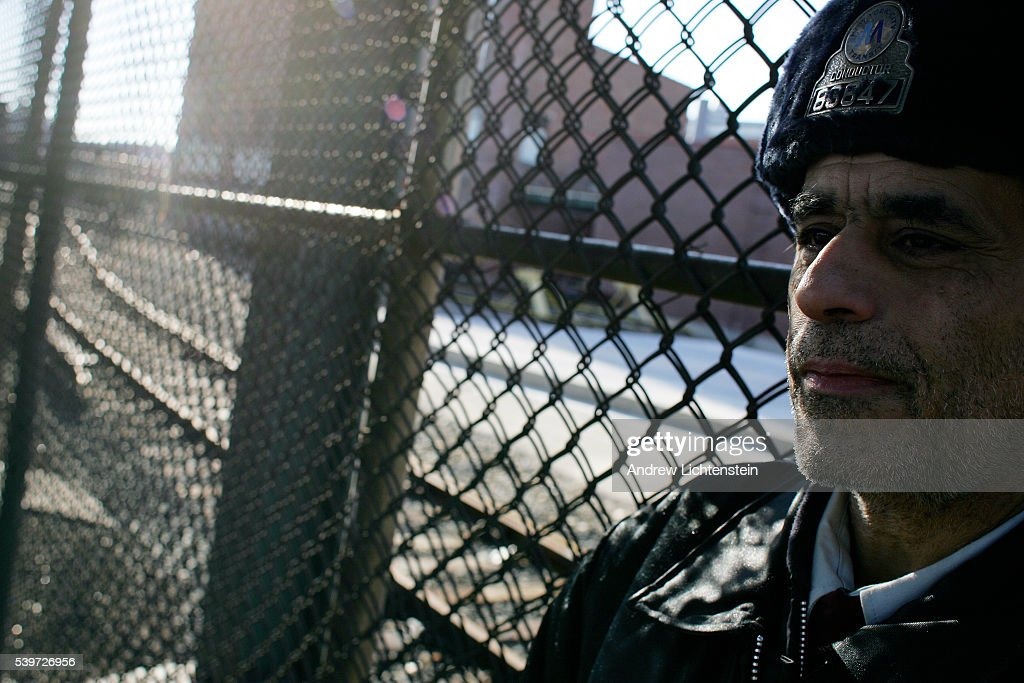 James O'Sullivan a train conductor for 31 years stands outside of the Coney Island rail yards in Brooklyn Striking transit workers walk the picket...