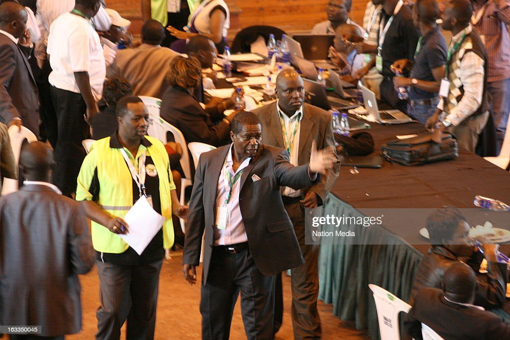 CEO, James Oswago, visits the Bomas National Elections Tallying Centre on March 6, 2013 in Nairobi, Kenya. This is the first General Election under the new constitution enacted in 2010.