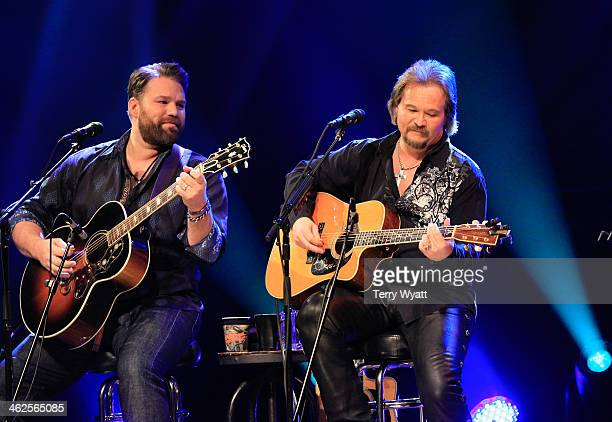 James Otto performs with Travis Tritt at Franklin Theatre on January 13 2014 in Franklin Tennessee