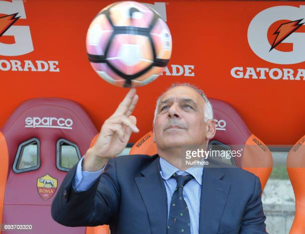 James Pallotta during the Italian Serie A football match between AS Roma and FC Genoa at the Olympic Stadium in Rome on may 28 2017