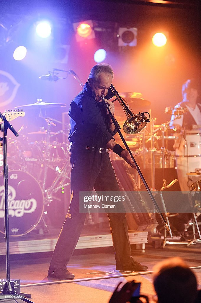 James Pankow of the rock band Chicago performs on stage during the 2012 Musicians On Call's benefit concert at B.B. King Blues Club & Grill on November 19, 2012 in New York City.