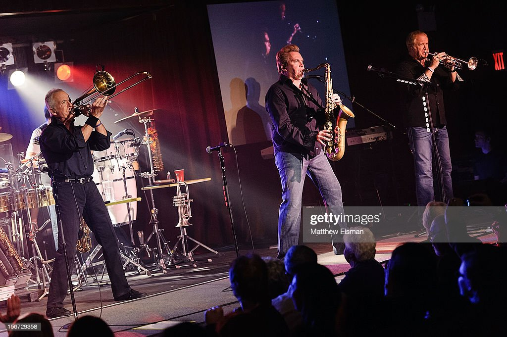 James Pankow, Walt Parazaider and Lee Loughnane of the rock band Chicago perform on stage during the 2012 Musicians On Call's benefit concert at B.B. King Blues Club & Grill on November 19, 2012 in New York City.