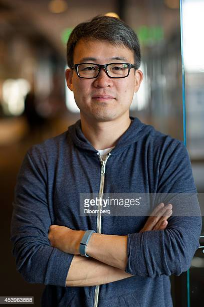 James Park cofounder and chief executive officer of Fitbit Inc stands for a photograph after a Bloomberg Television interview in San Francisco...