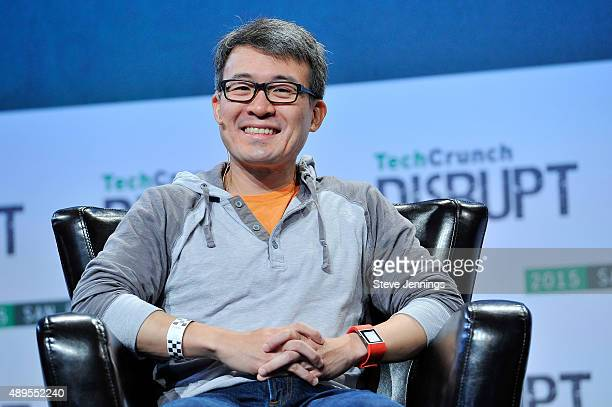 James Park of Fitbit speaks onstage during day two of TechCrunch Disrupt SF 2015 at Pier 70 on September 22 2015 in San Francisco California