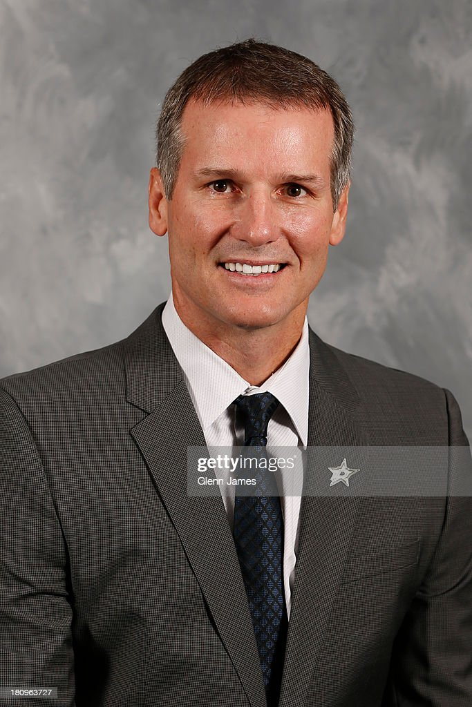 James Patrick assistant coach of the Dallas Stars poses for his official headshot for the 20132014 season on September 11 2013 at the Dr Pepper Stars...