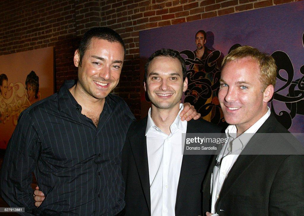 James Patrick Herman of InStyle photographer Jeff Vespa and David Pinsky