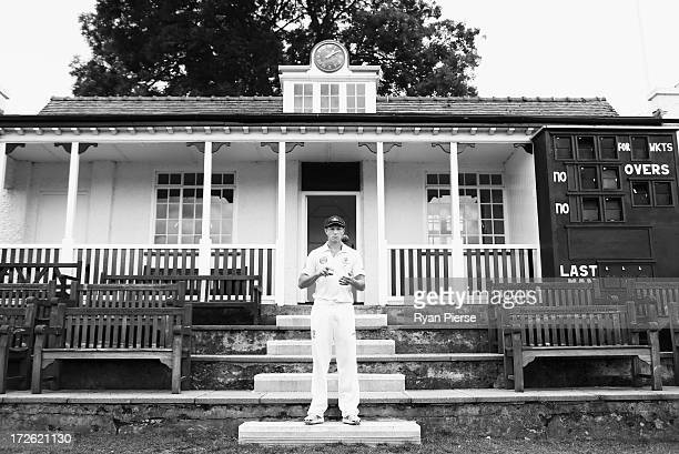 James Pattinson of Australia poses during a portrait session at New Road on July 4 2013 in Worcester England