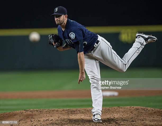 James Paxton of the Seattle Mariners delivers a pitch during a game against the Houston Astros at Safeco Field on September 17 2016 in Seattle...