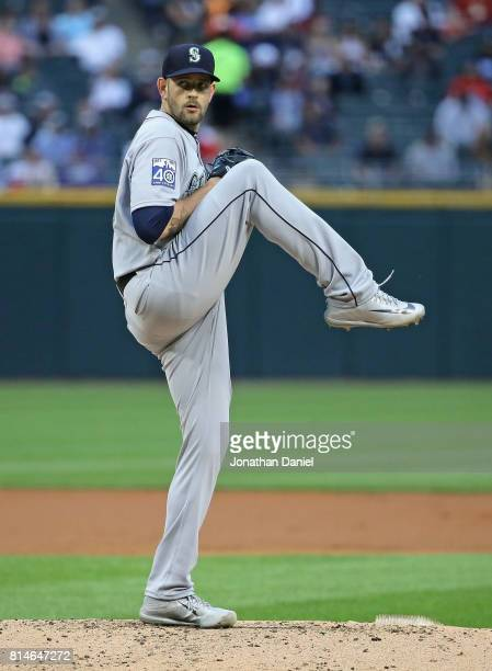 James Paxton of the Seattle Mariners delivers the ball against the Chicago White Sox at Guaranteed Rate Field on July 14 2017 in Chicago Illinois