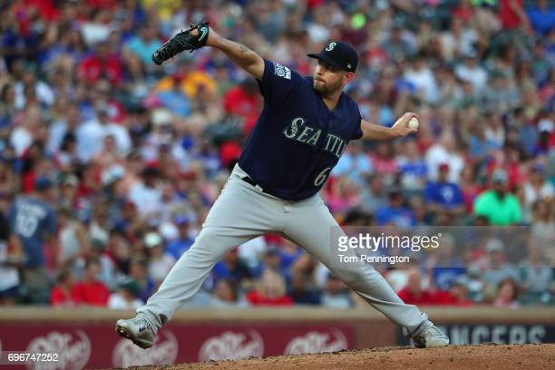 James Paxton of the Seattle Mariners pitches against the Texas Rangers in the bottom of the third inning at Globe Life Park in Arlington on June 16...