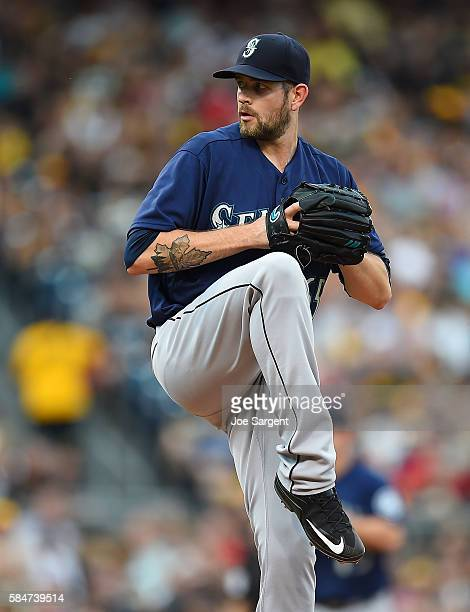 James Paxton of the Seattle Mariners pitches during interleague play against the Pittsburgh Pirates on July 27 2016 at PNC Park in Pittsburgh...