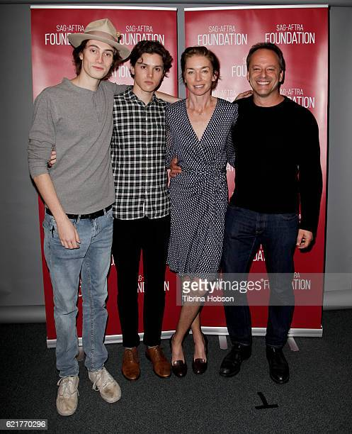 James Paxton Tyler Young Julianne Nicholson and Gil Bellows attend SAGAFTRA Foundation's Conversations with the cast of 'Eyewitness' at SAG...